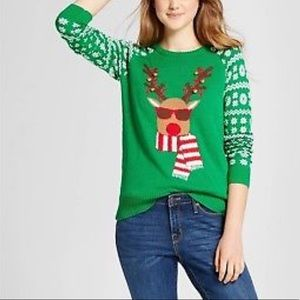 Sweaters - Well worn ugly Christmas sweater Reindeer bells